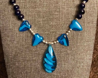 Sterling Silver Glass Bead Necklace