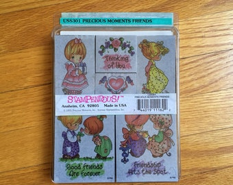 Precious Moments Friends stamp set. 1995. 90s, stationary, stamps, crafting, friendship