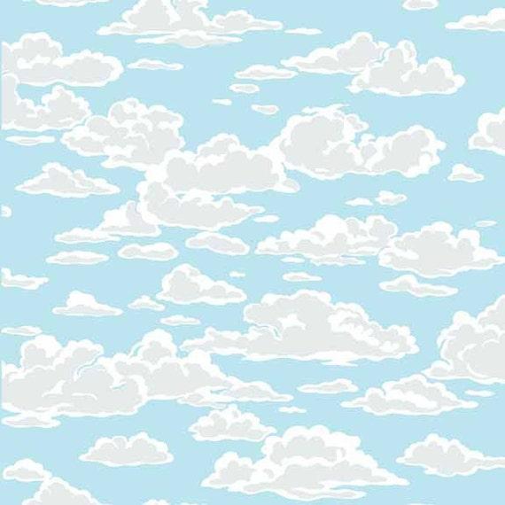 MARINA tissue cotton patchwork SKY blue x50cm MARINA