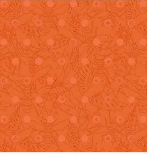 SUN PRINTS cotton fabric patchwork Carrot orange rust x50cm