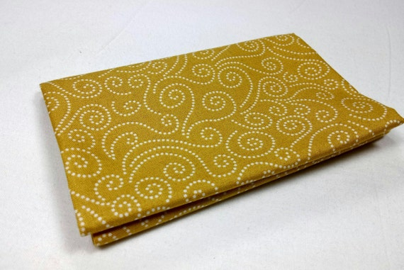 WINDY DAY Coupon Windy Day swirl yellow 50x55cm patchwork fabric