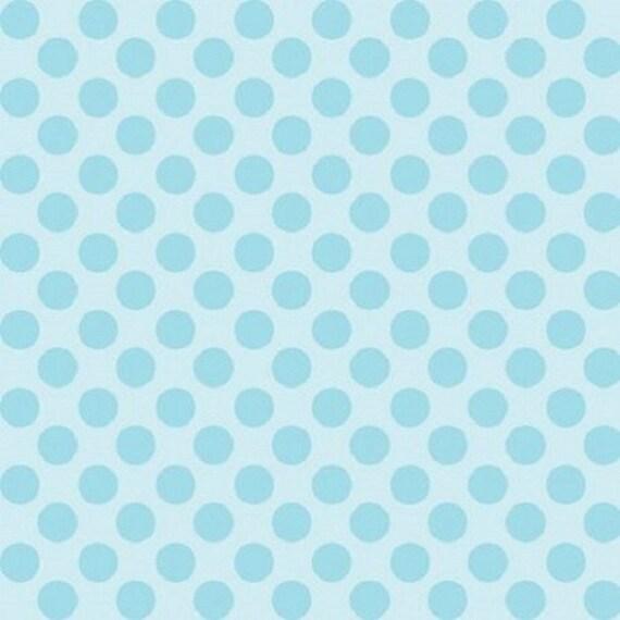 BREEZY BABY fabric cotton patchwork Breezy Baby x50cm sky blue polka dots