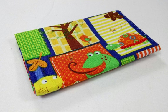 FUN WITH NATURE fabric Coupon cotton patchwork Fun nature with frogs and crocodiles 50x55cm turtles squares
