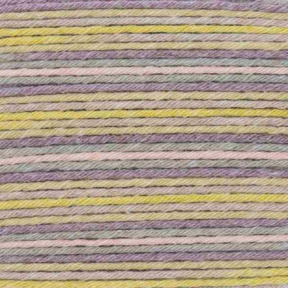 RICO BABY cotton yarn ball Print Soft COTTON and acrylic multicolored green lilac 50g 125 m
