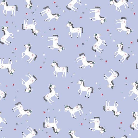 PRINCESS DREAM fabric cotton patchwork x50cm Lavender Unicorn