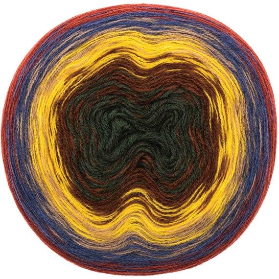 CREATIVE WOOL DEGRADE Super Pelote dégradé 6 couleurs rouille bleu beige jaune marron kaki 200g 800m
