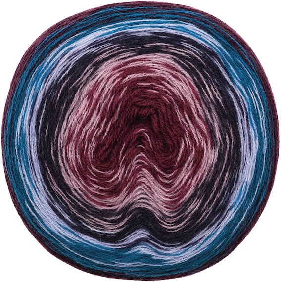 CREATIVE WOOL DEGRADE Super Pelote dégradé 6 couleurs prune pétrole gris beige bordeaux 200g-800m
