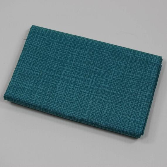 LINEA Coupon fabric cotton patchwork turquoise LINEA 50x55cm