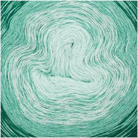CREATIVE COTTON gradient skein cotton gradient 3 colors Mint green pale green 200-800 m g