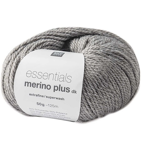 RICO ESSENTIALS Merino more dk grey