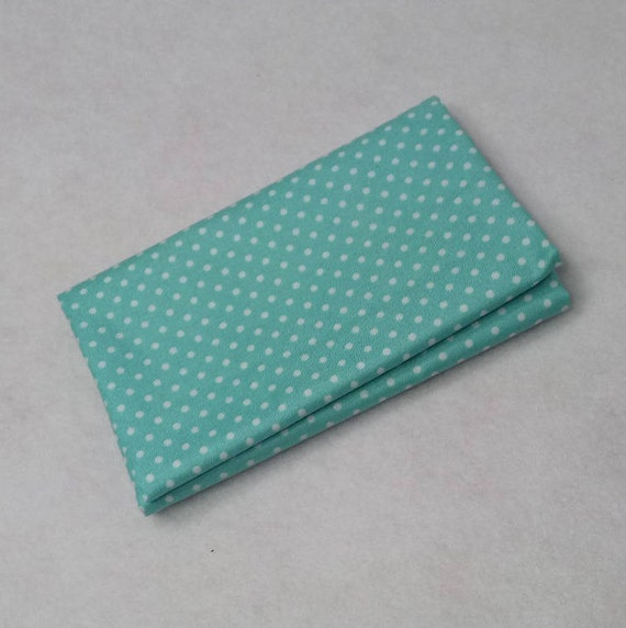 SPOT ON fabric Coupon cotton patchwork AQUA 50x55cm