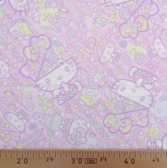 Pink HELLO KITTY cotton fabric patchwork design cat the most famous of the world amid x50cm