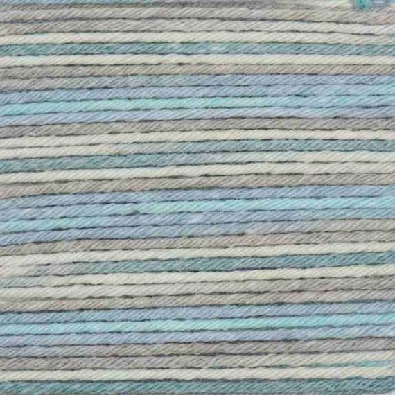 RICO BABY cotton yarn ball Print Soft COTTON and acrylic fabric gray turquoise 50g 125 m