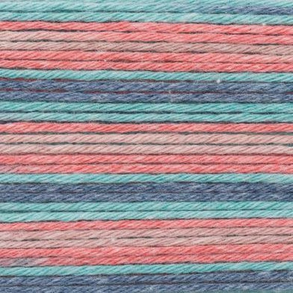 RICO BABY cotton yarn ball Print Soft COTTON and acrylic fabric red blue oil 50g 125 m