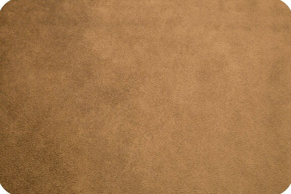 Brown synthetic velvet x25cm MINKY fabric