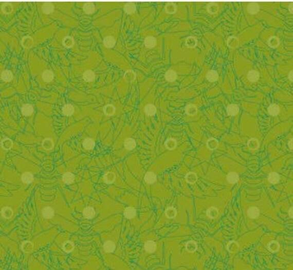 SUN PRINTS fabric cotton patchwork PINE green x50cm
