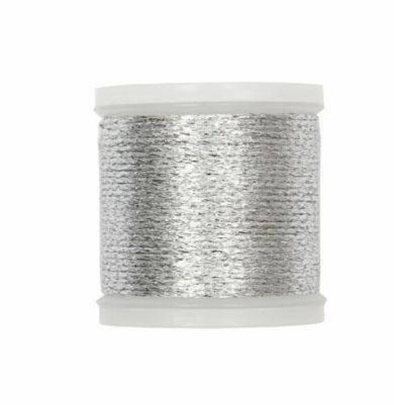 WIRE embroidered metallic 40 m gold or silver