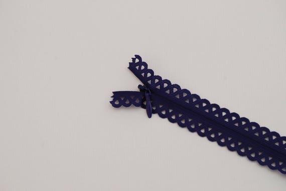 ZIPPER lace PETALS ANTHRACITE REF 418201 20cm