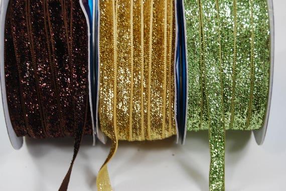 Ribbon stripe lurex velvet way sequins 10 mm x2m 5 different colors