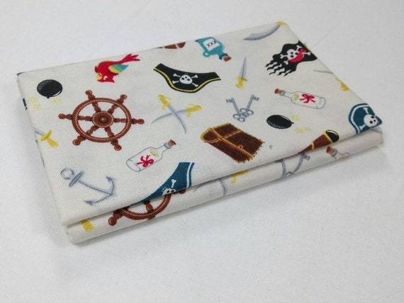 PIRATES fabric Coupon cotton patchwork PIRATES and 50x55cm accessories