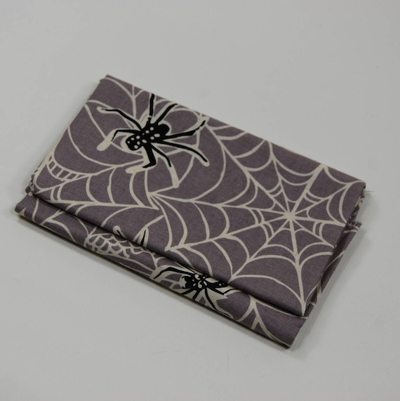 SPOOKTACULAR TOO Coupon fabric cotton patchwork spiders black gray and white 50x55cm
