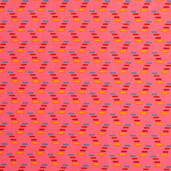 Cotton fabric Coupon PROMO patchwork DOWRY CRACKIG Codes petal pink x1m