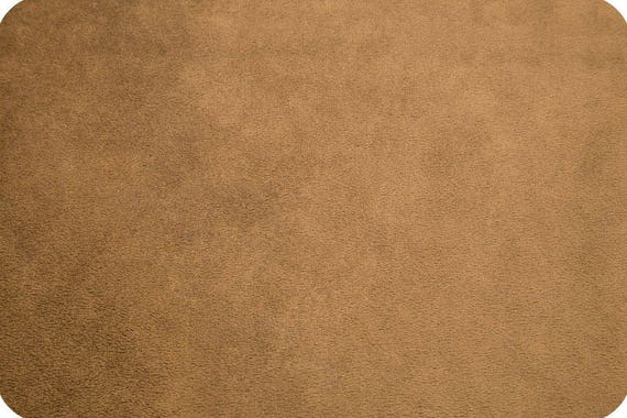 MINKY fabric Coupon synthetic brown corduroy coffee 90x155cm