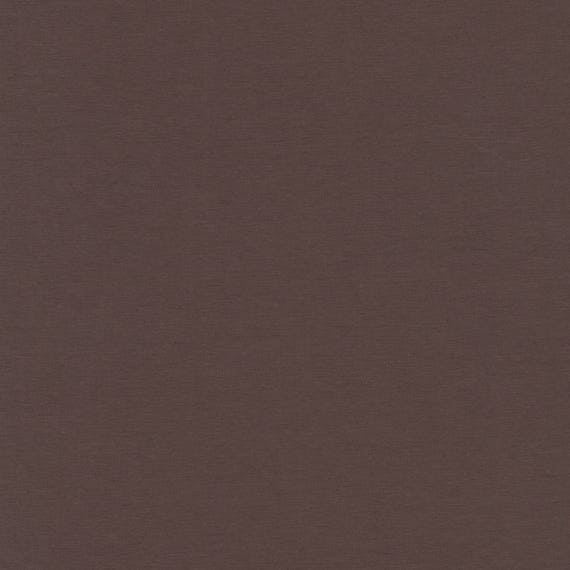 AVALANA AVALANA SOLID plain brown dark chocolate x40cm cotton jersey fabric