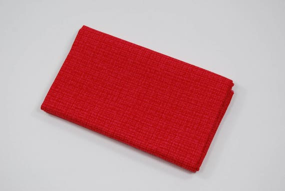 LINEA 50X55CM CORAL RED COTTON FABRIC COUPON