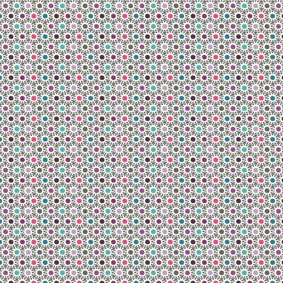 AVALANA fabric AVALANA polka dot cotton jersey in stars on gray x40cm Sun type