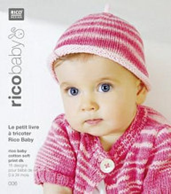 RICO BABY little book to knit 15 designs for baby 0-24 months cotton soft print 006