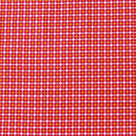 Cotton fabric Coupon PROMO sewing SOFT CACTUS Fuchsia orange x1m
