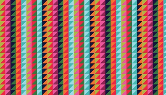 WRAP IT UP fabric cotton patchwork Triangle Stripe x50cm