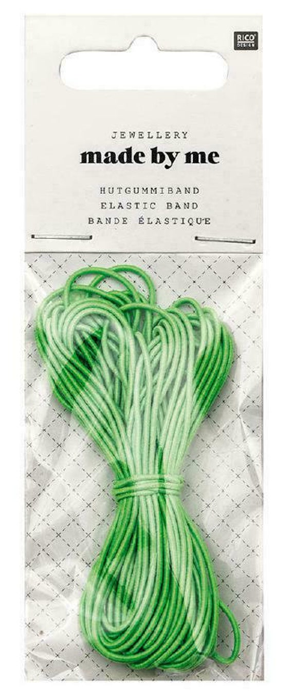 ELASTIC round 1 mm x5m neon green mouse tail