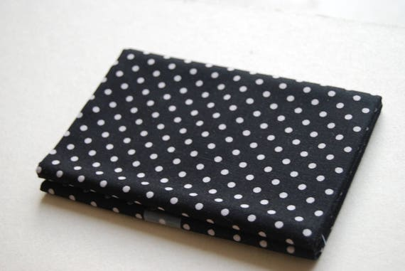 Promotional Coupon fabric cotton patchwork INK BLOSSOM black dot 50x55cm