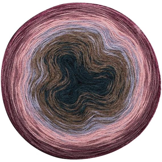 CREATIVE WOOL DEGRADE Super Pelote dégradé 6 couleurs prune parme rose ciel taupe pétrole 200g-800m