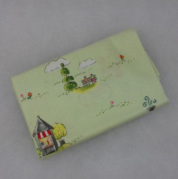 COLETTE Coupon fabric cotton patchwork COLETTE Parc and garden green 50x55cm