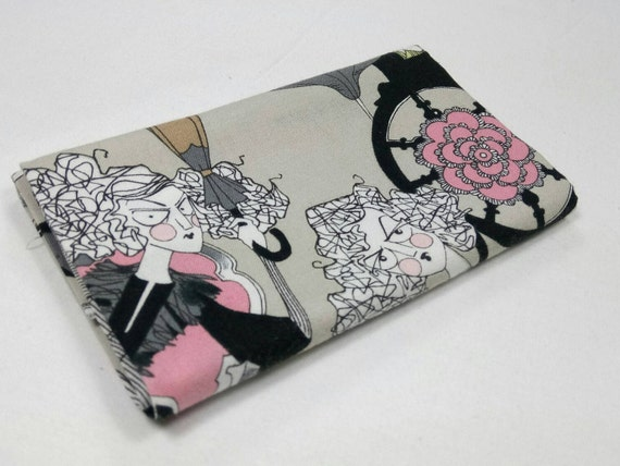 GHASTLIE Coupon fabric by Alexander Henry Ghastlie Family 30s Grey 50x55cm patchwork cotton