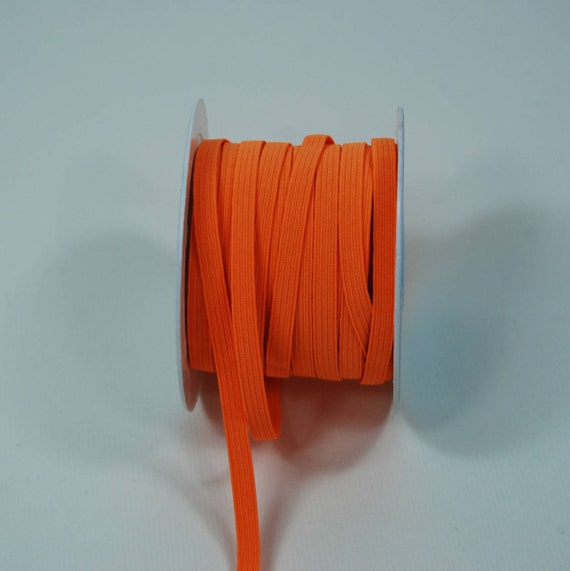 Flat 6 mm neon orange elastic band