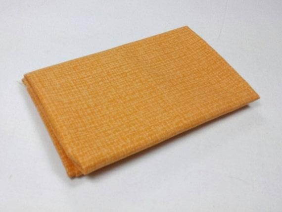 COLOR WEAVE fabric Coupon cotton patchwork Orange 50x55cm
