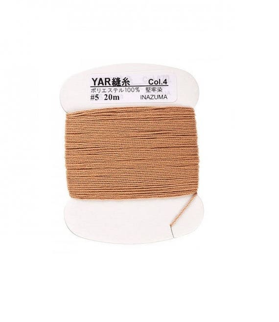 Polyester thread to sew handles or knobs CAMEL waxed