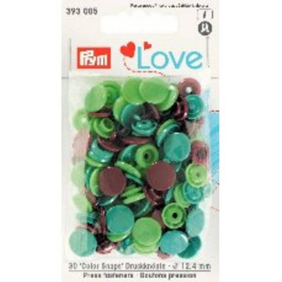 LOT 30 SNAPS COLOR SNAPS 12.4 MM GREEN AND BROWN