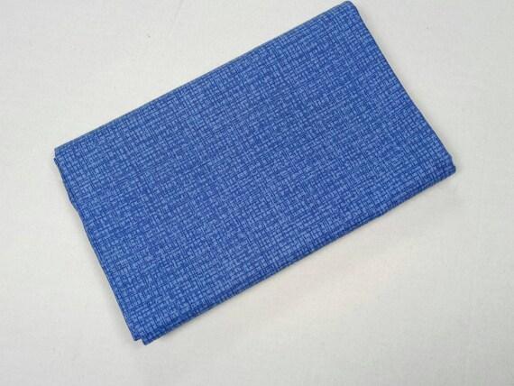COLOR WEAVE fabric Coupon 50x55cm blue patchwork cotton