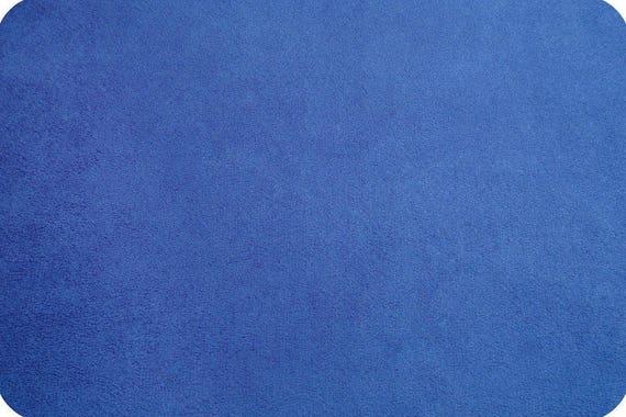 MINKY fabric blue synthetic velvet electric x25cm
