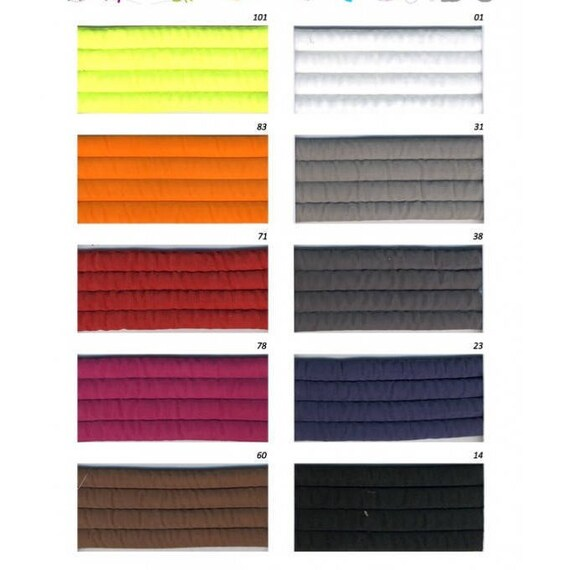 Quilted synthetic webbing width 35 mm 10 color x1m