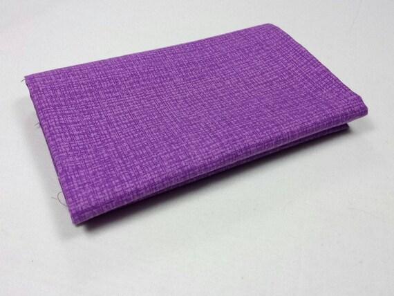 COLOR WEAVE fabric Coupon 50x55cm purple patchwork cotton