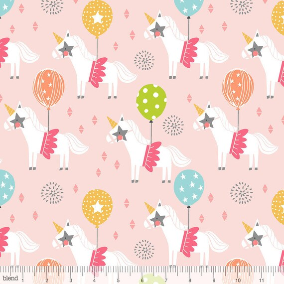 CALLIOPE fabric cotton patchwork Carousel Pink circus horse with ball on pink x 50 cm