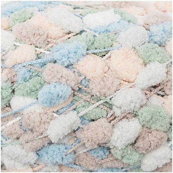 RICO CREATIVE Pompom print Pincushion small PomPoms, multicolored beige and green 200g 100 m
