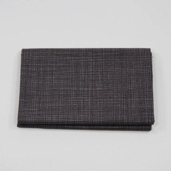 LINEA Coupon fabric cotton patchwork LINEA 50x55cm cocoa Brown