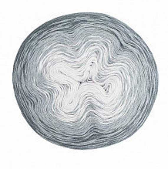 CREATIVE COTTON gradient skein cotton gradient 3 colors Anthracite gray and light gray 200-800 m g
